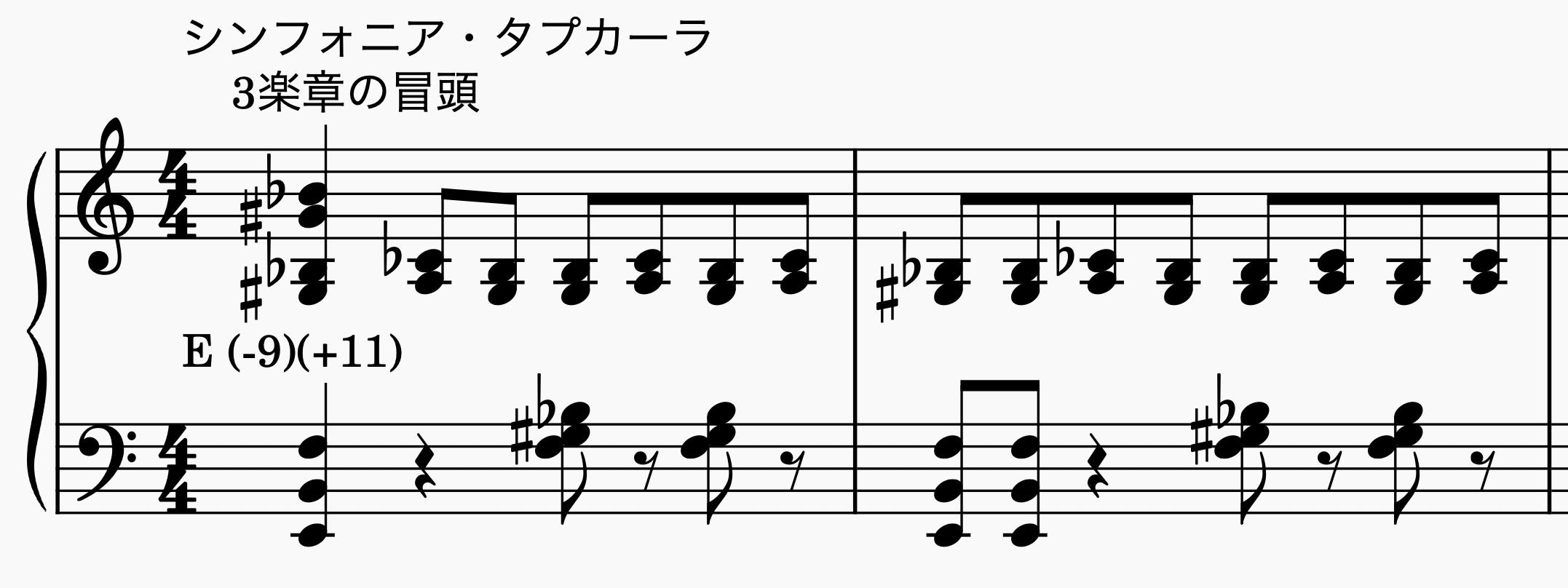 シンフォニア・タプカーラ 3楽章の冒頭